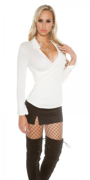 a2041d14e7e ... Fotogalerie  Sexy tričko s límečkem Paola di Ressi krémové