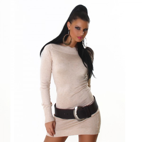 Fotogalerie  Sexy šaty Aldore Luciano béžové 5b47855518