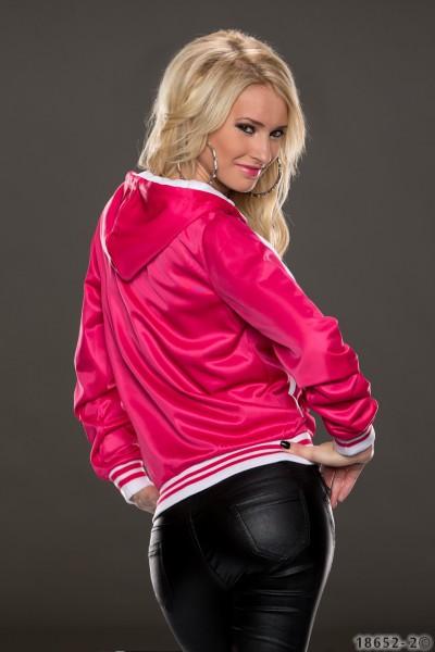dd377df3e03 ... Fotogalerie  Dámská mikina Perfect Mode růžovo-bílá ...