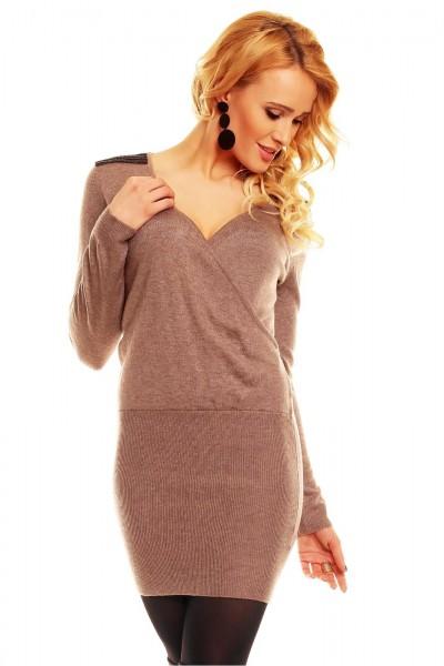Fotogalerie  Sexy šaty Perfect Mode hnědé 3e1ce4d132