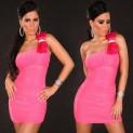 Elegantní dámské šaty růžové