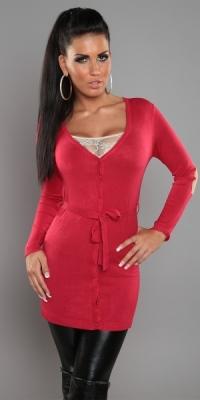 db35fe2fad3 Dámský svetr s páskem červený