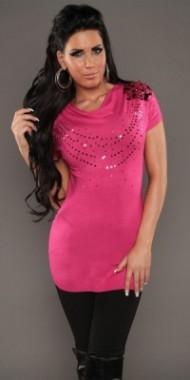 Moderní dámský svetr růžový