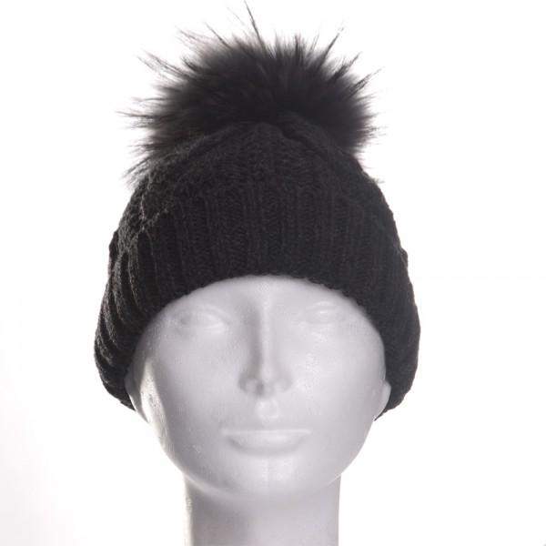 8c5bcec3ca2 Fotogalerie  Dámská zimní čepice černá