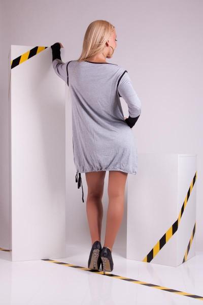 ... Fotogalerie  Dámské triko s kamínky Ami Style šedé 60bfe2bc10