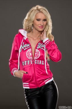 Dámská mikina Perfect Mode růžovo-bílá