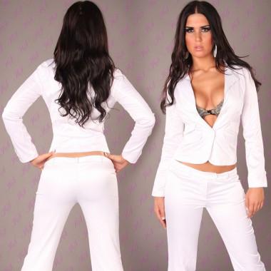 Dámské sexy sako Paola di Ressi bílé