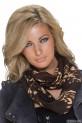 Béžovo-hnědý šátek Perfect Mode