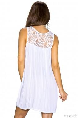 Dámský sexy delší top Perfect Mode bílý