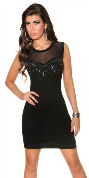 Fotogalerie  Sexy jemné úpletové šaty Paola di Ressi černé 13a391aa4e