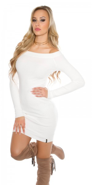 b3136e1a53a ... Fotogalerie  Sexy šaty s lodičkovým výstřihem Paola di Ressi bílé ...