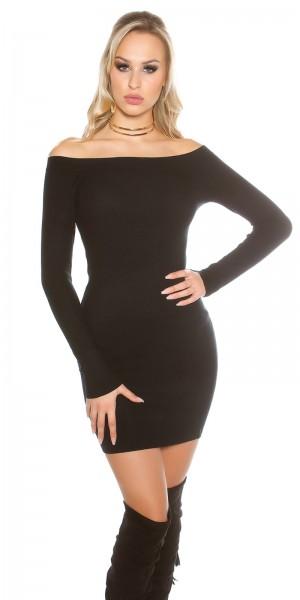8d0ba9a4210 Fotogalerie  Sexy šaty s lodičkovým výstřihem Paola di Ressi černé