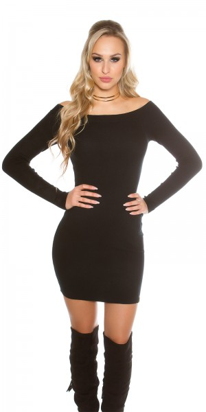 27585dcc11a ... Fotogalerie  Sexy šaty s lodičkovým výstřihem Paola di Ressi černé ...