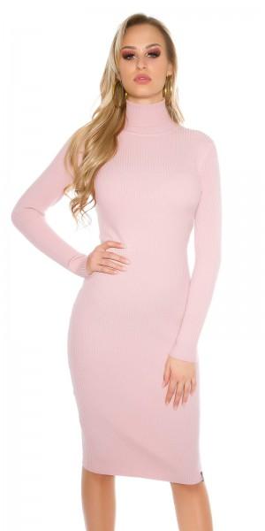 55d847d6945 Fotogalerie  Sexy delší šaty s rolákem Paola di Ressi růžové