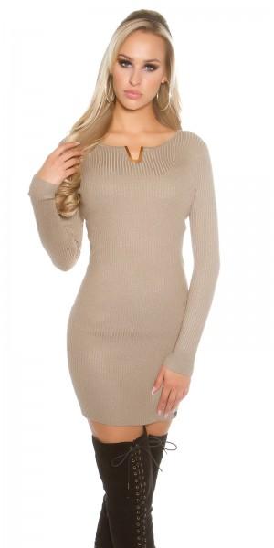 Fotogalerie  Sexy šaty se zlatým V Paola di Ressi cappucino 8bd6b99c4f