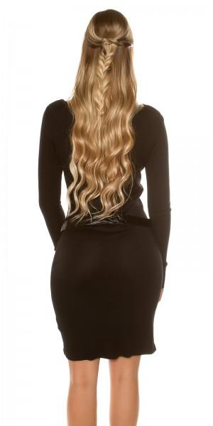 Fotogalerie  Sexy šaty s páskem Paola di Ressi černé ... 3bf1b77247