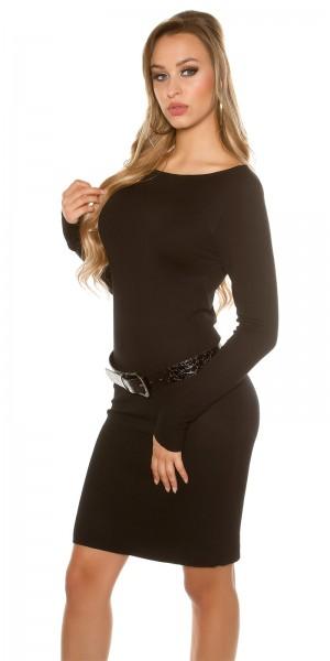 ... Fotogalerie  Sexy šaty s páskem Paola di Ressi černé ... 8f01369d30