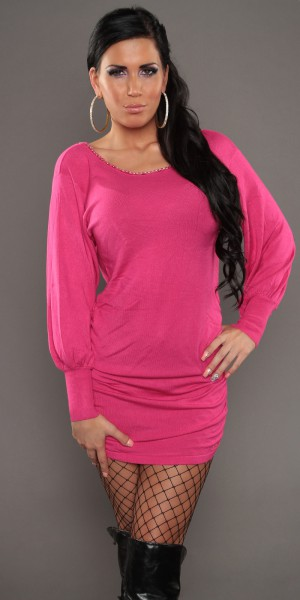 Fotogalerie  Dámské krásné sexy šaty Paola di Ressi růžové ad15661cab